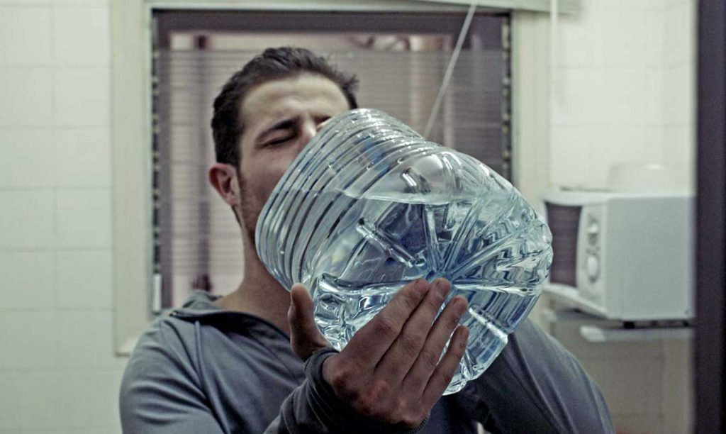 drinking water from gallon