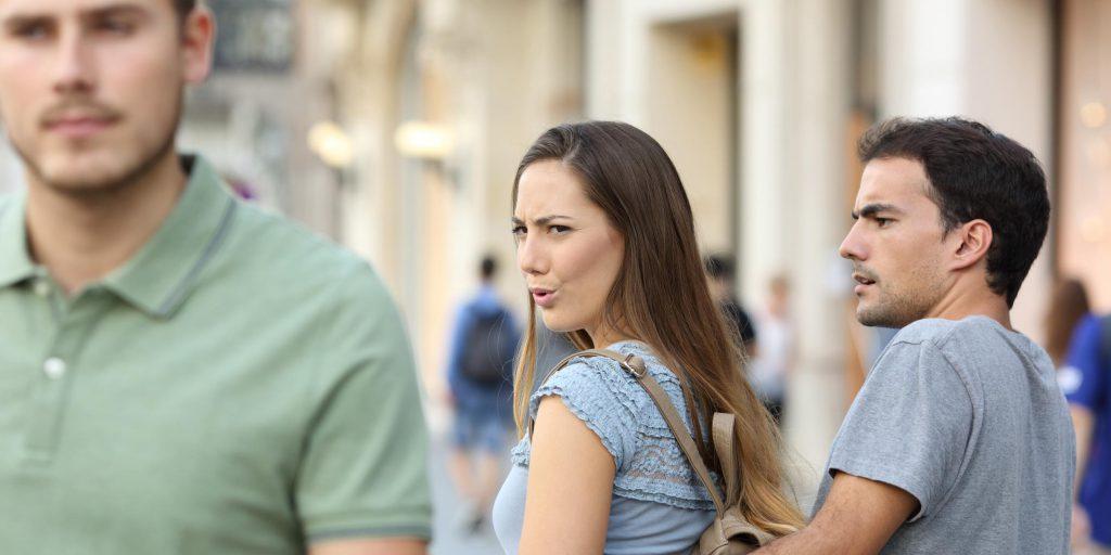 Distracted girlfriend