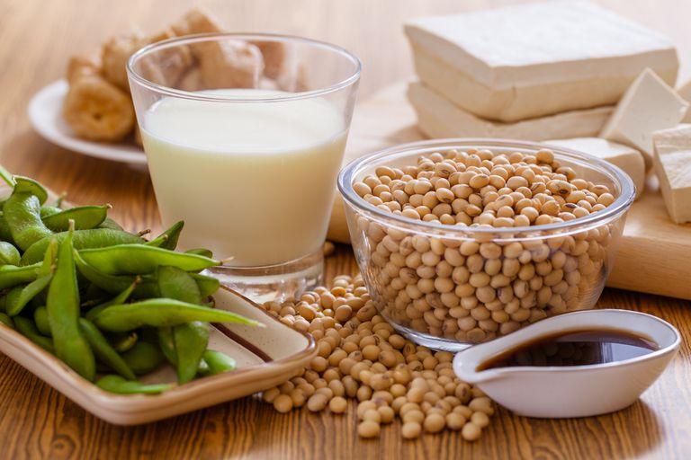 soy milk tofu and edamame