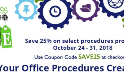 Save 25% During This Special Procedures Celebration!