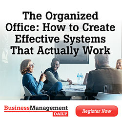 Affiliate Webinar: The Organized Office: How to Create Effective Systems That Actually Work