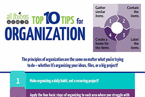 Top 10 Tips for Organization [Infographic]