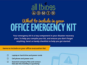 What To Include In Your Office Emergency Kit [INFOGRAPHIC]