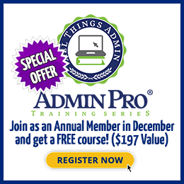 AdminPro Training Series® Annual Membership Special!