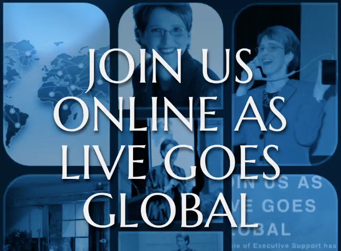 Join Julie Perrine at Executive Secretary LIVE Global