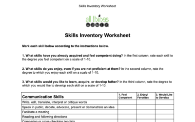 How to Do a Comprehensive Skills Inventory
