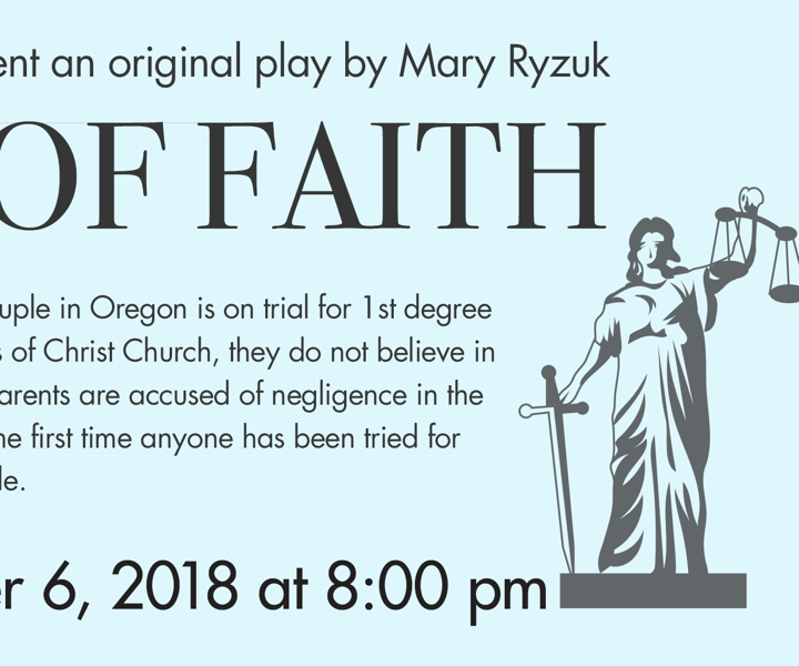 Trial of Faith at The Barn Theatre 2018