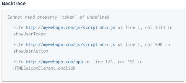 Minified Stacktrace