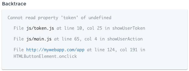 Source Mapped Stacktrace