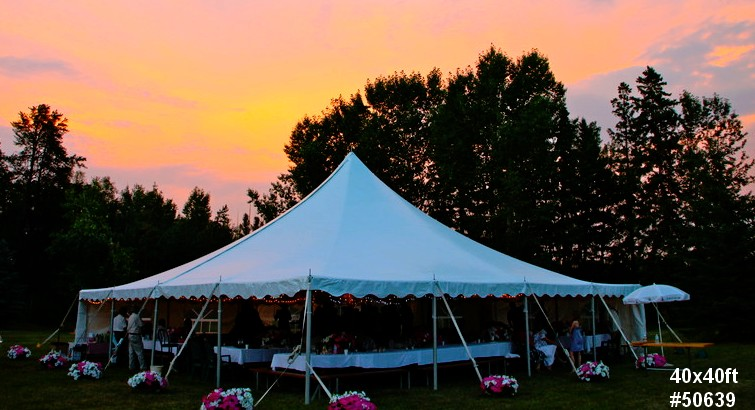 40by40ft frame tent rental 50639