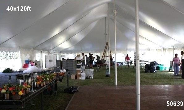 40x120ft tent rental inside view 50639