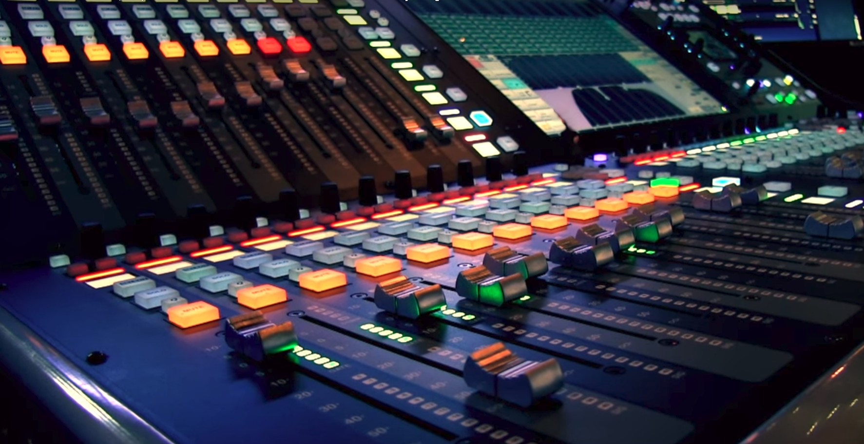 audio visual event production digital mixing board