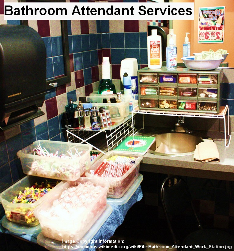 bathroom restroom attendant service for events