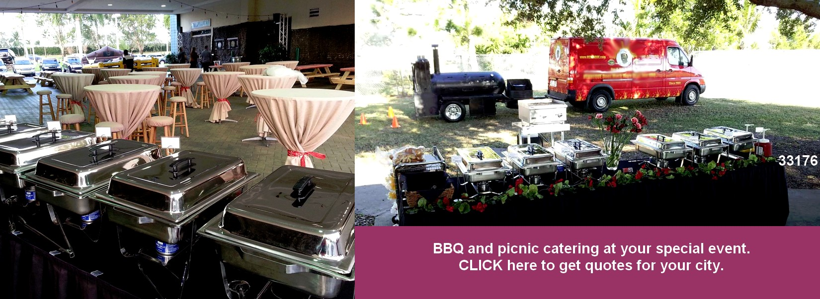 bbq catering  on site catering designs