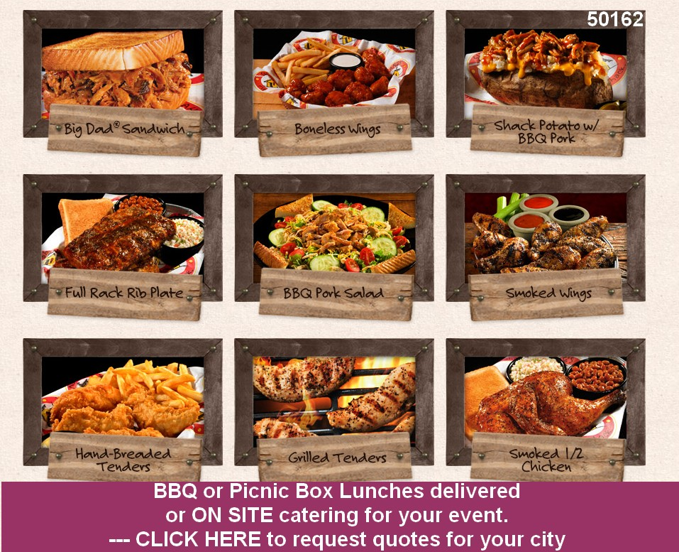 bbq catering box lunches drop off on site 50162