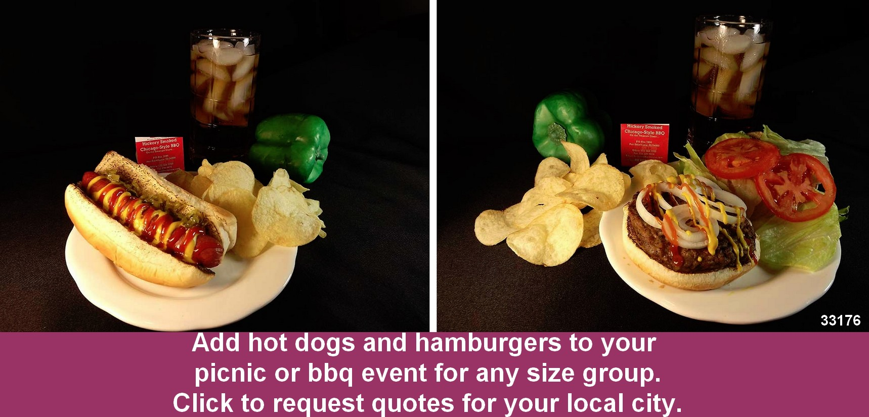 bbq catering hot dogs hamburgers corporate graduation picnic 33176