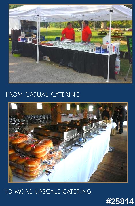 bbq picnic catering tent to upscale catering events