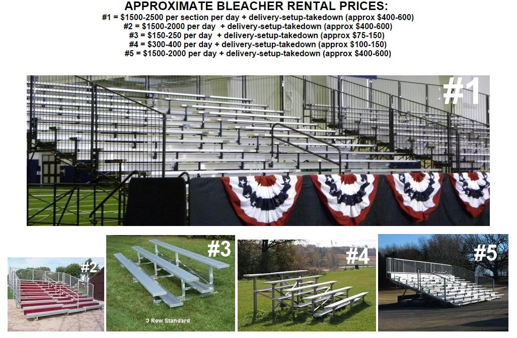 bleacher rentals variety of sizes