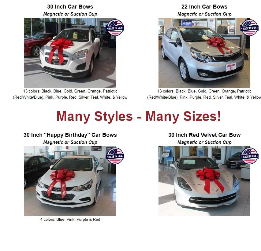 car bows holiday bows new car bow