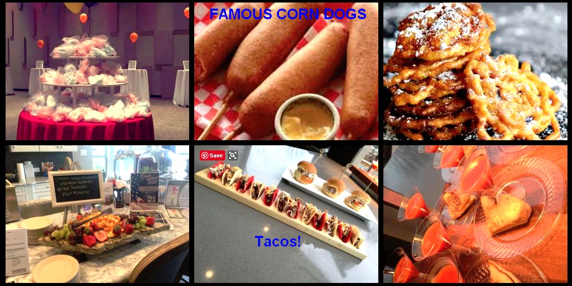 carnival theme catering items carnival catering tacos corn dogs