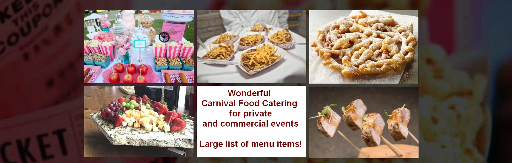 carnival theme catering items carnival catering