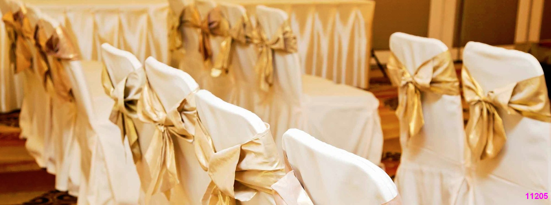 chair cover rentals gold theme color