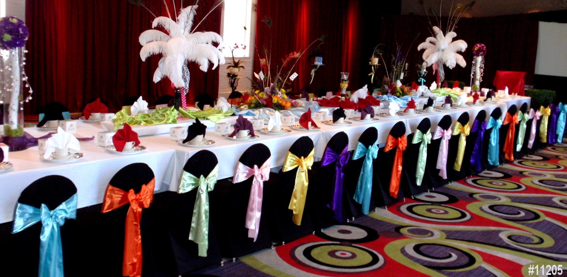 chair cover rentals many colors