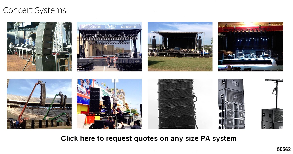 concert pa system audio sound reinforcement systems rentals 50562