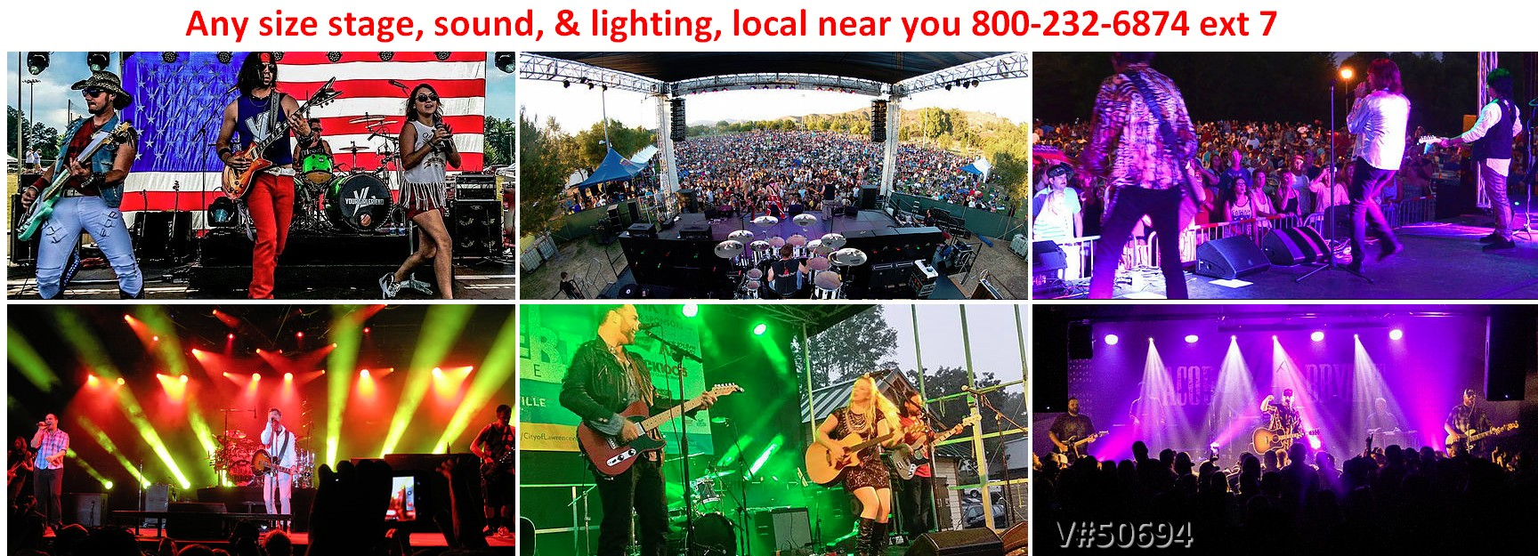 concert stage audio video lighting production shows