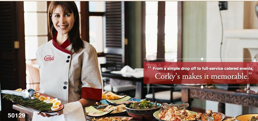 corporate caters catering girl photo