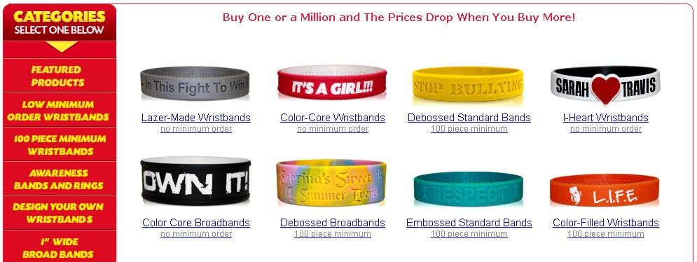 custom wristbands silicone styles 1