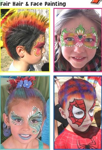 face painting hair painting kids 1494