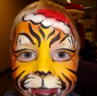 face painting hair painting kids animal 314