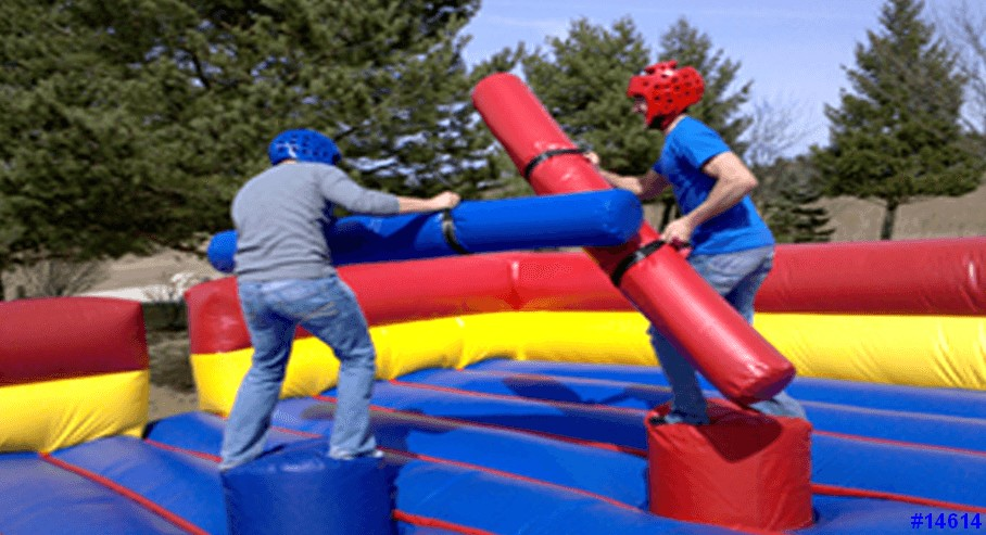 gladiator joust interative inflatable game rental  kids on game