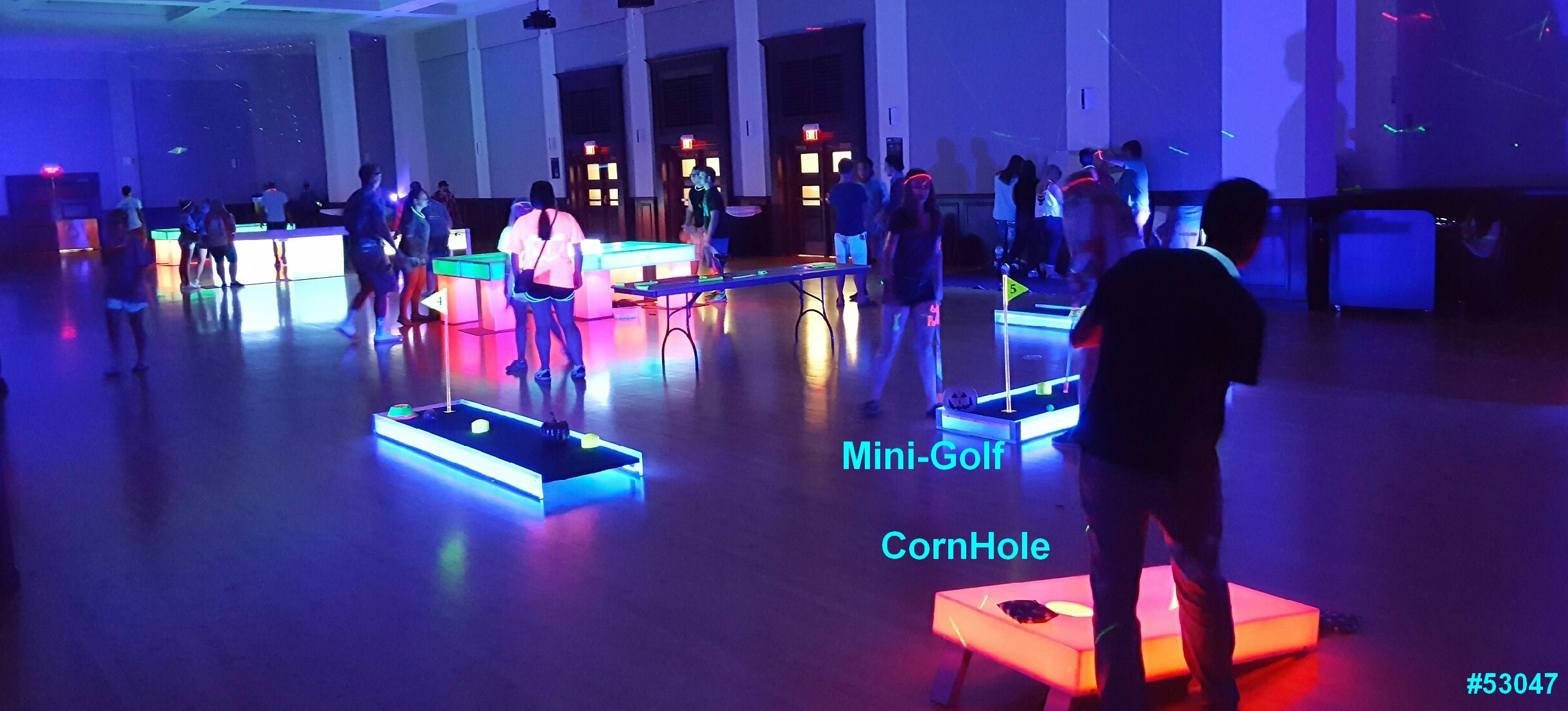 glow games cornhole mini golf glow in the dark rentals