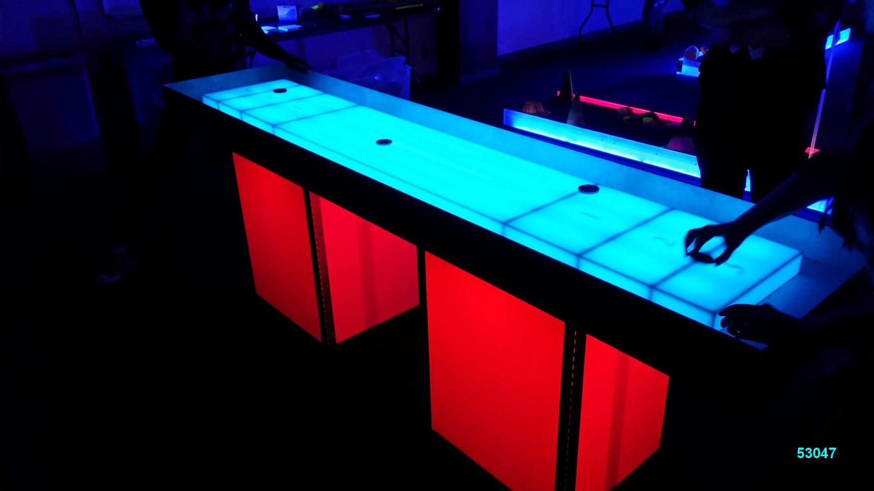 glow games shuffleboard red glow in the dark rentals 53047