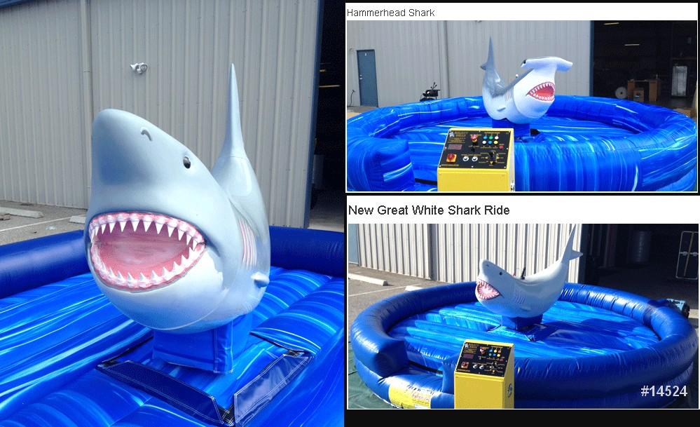 great white shark ride rental mechanical ride