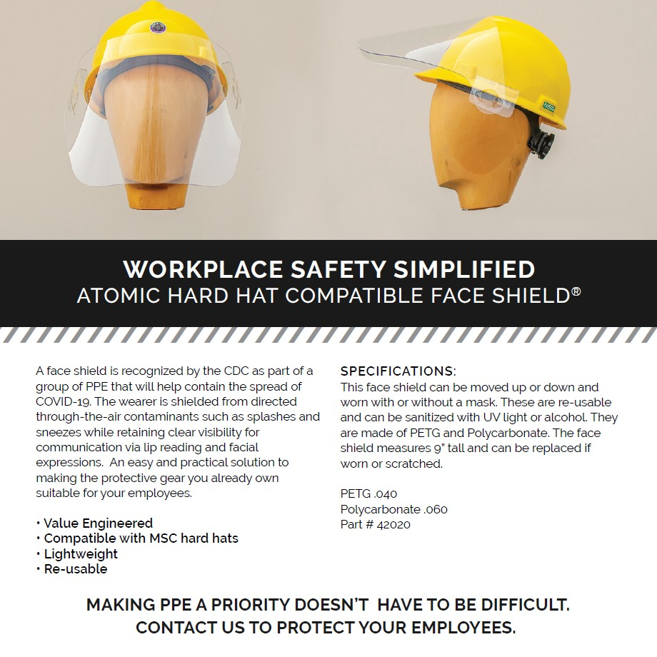 hard hat flip up visor face shields
