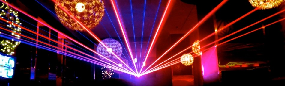 laser light show production red blue laser