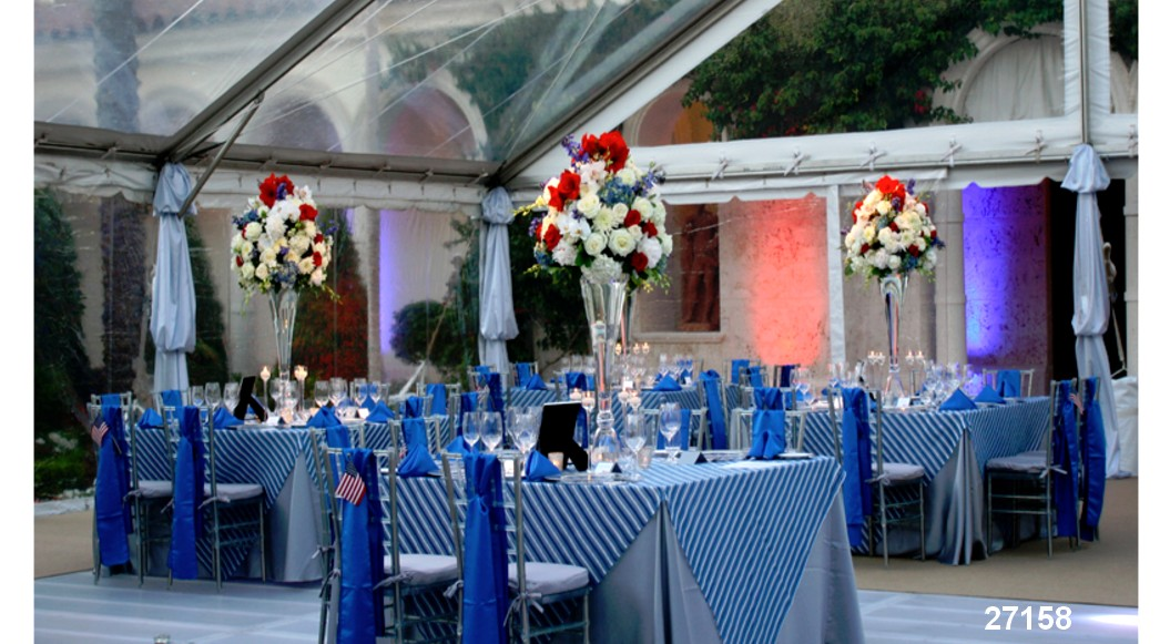 linens tablecloth rentals  blue collection