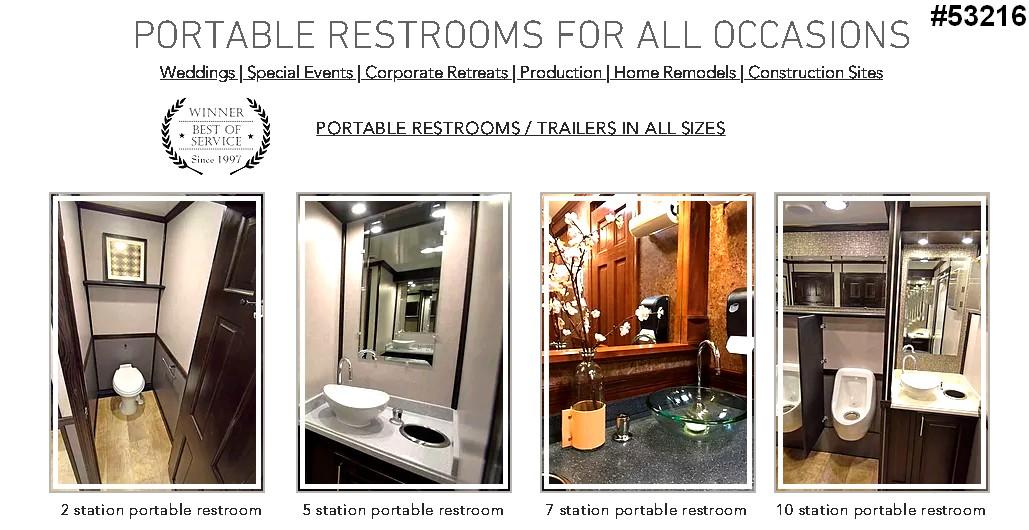 luxury restroom rentals trailers vip events