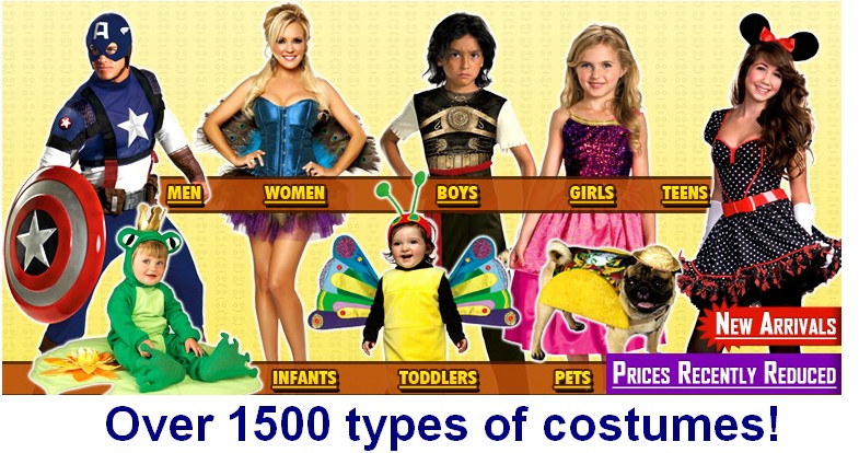 many thousands of costumes sas