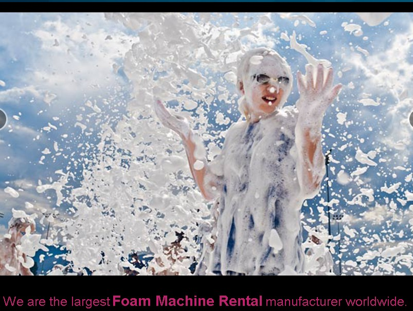 nationwide foam machine party rental