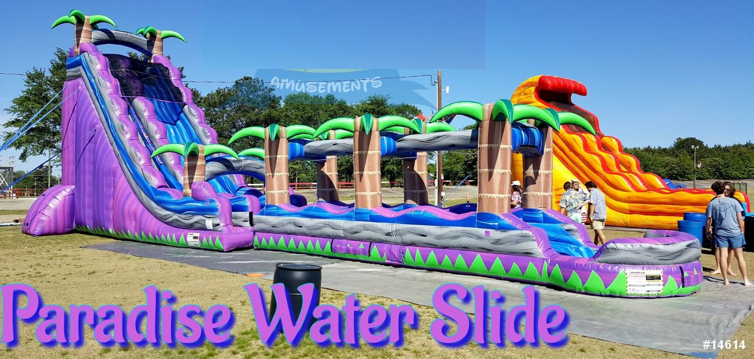 paradise water slide rental 14614