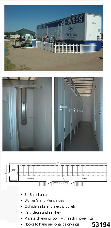 portable shower trailers shower services rentals 53194