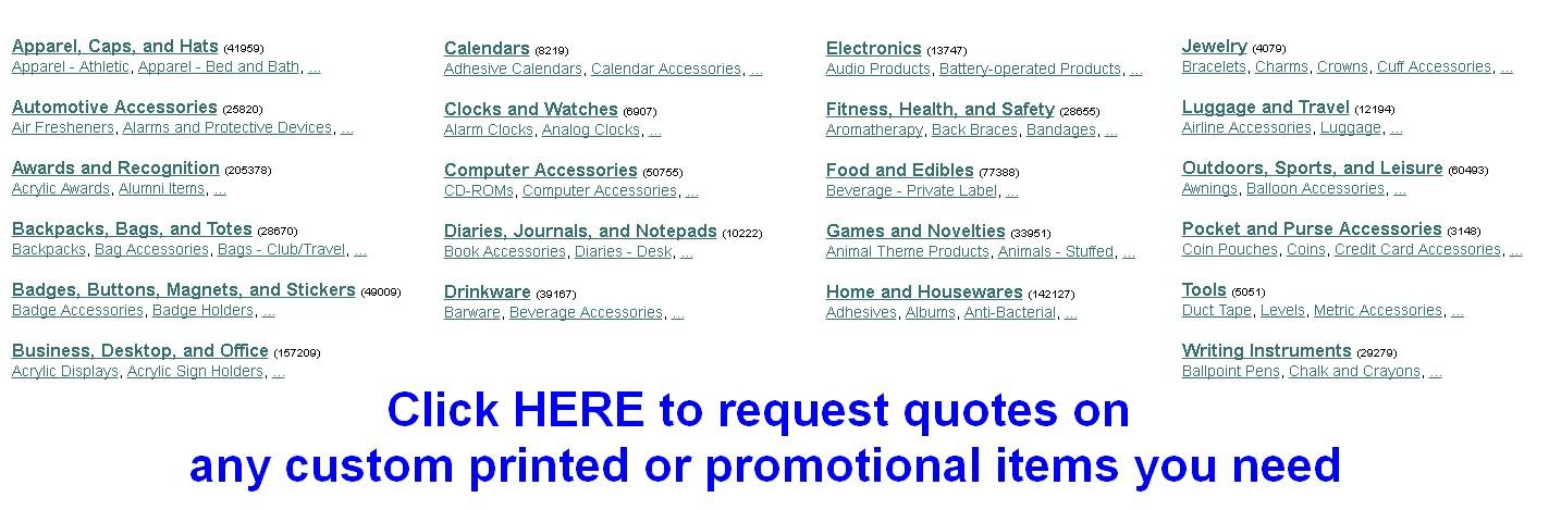 printing custom promotional items