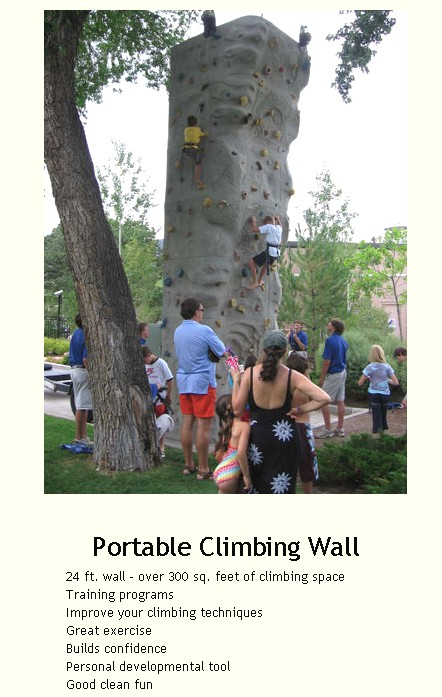 rock climbing wall rental 36134