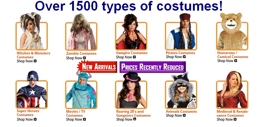 thousands of costumes sas