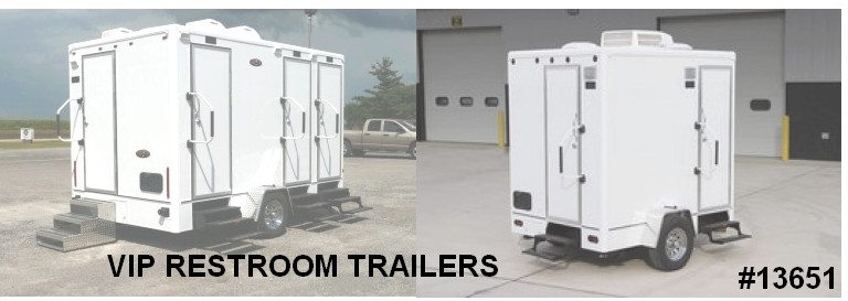 vip restroom trailers luxury toilet rentals 13651