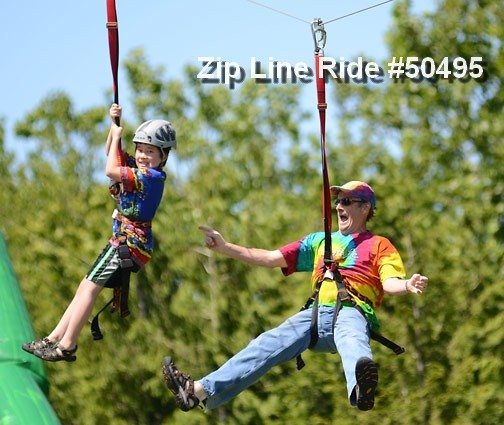zip line ride rental 50495